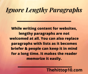 Ignore long Passages | writing content