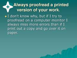 Proofread | content writing tips