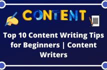 Top 10 Content Writing Tips for Beginners | Content Writers
