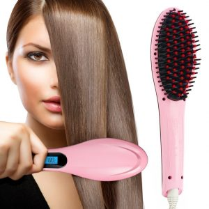 Hair Straightening Brush with LCD Screen | Hair Straightener | Online available at Amazon
