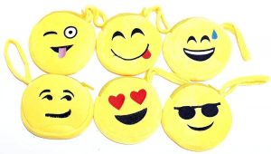 Smiley Yellow Coin Pouch Purse   small little purse gift   small little purse gifts for kanjak